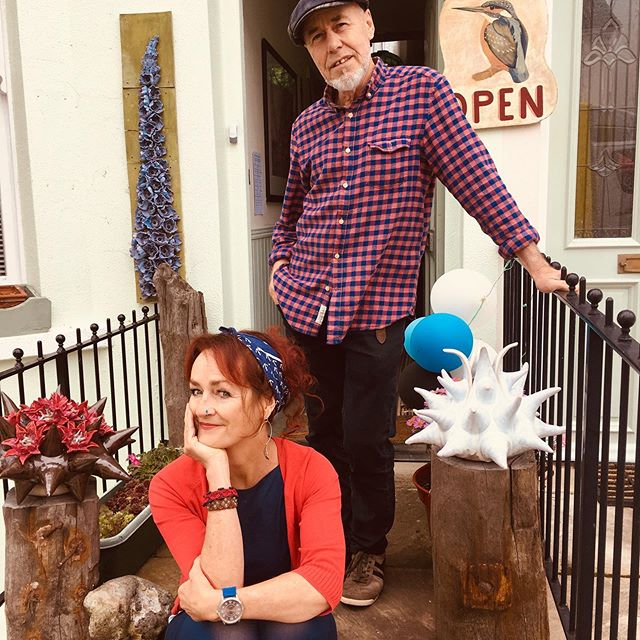 It's the 3rd weekend of the Brighton Open House and lovely to get a pic of Fran and Henry outside their house as they are moving, come and visit us today and next week