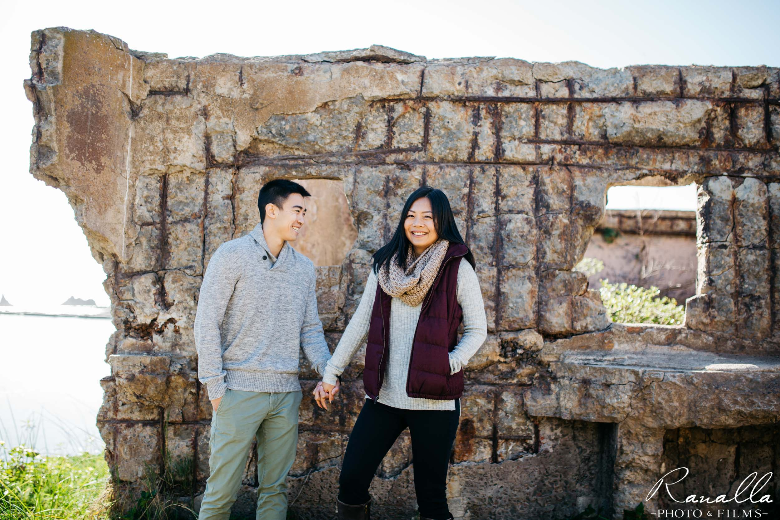 San Francisco Engagement Photography- Couple Holding Hands- Lands End Wedding Photos- Ranalla Photo & Films