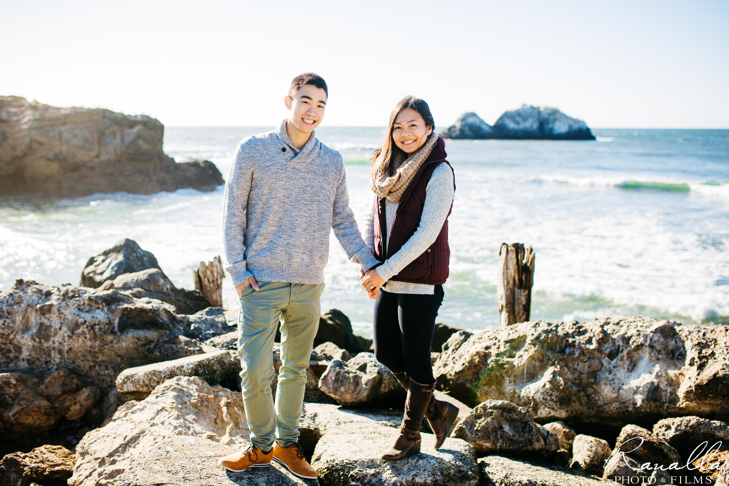 San Francisco Engagement Photography- Sutro Baths- San Francisco Coast- Lands End Wedding Photos- Ranalla Photo & Films