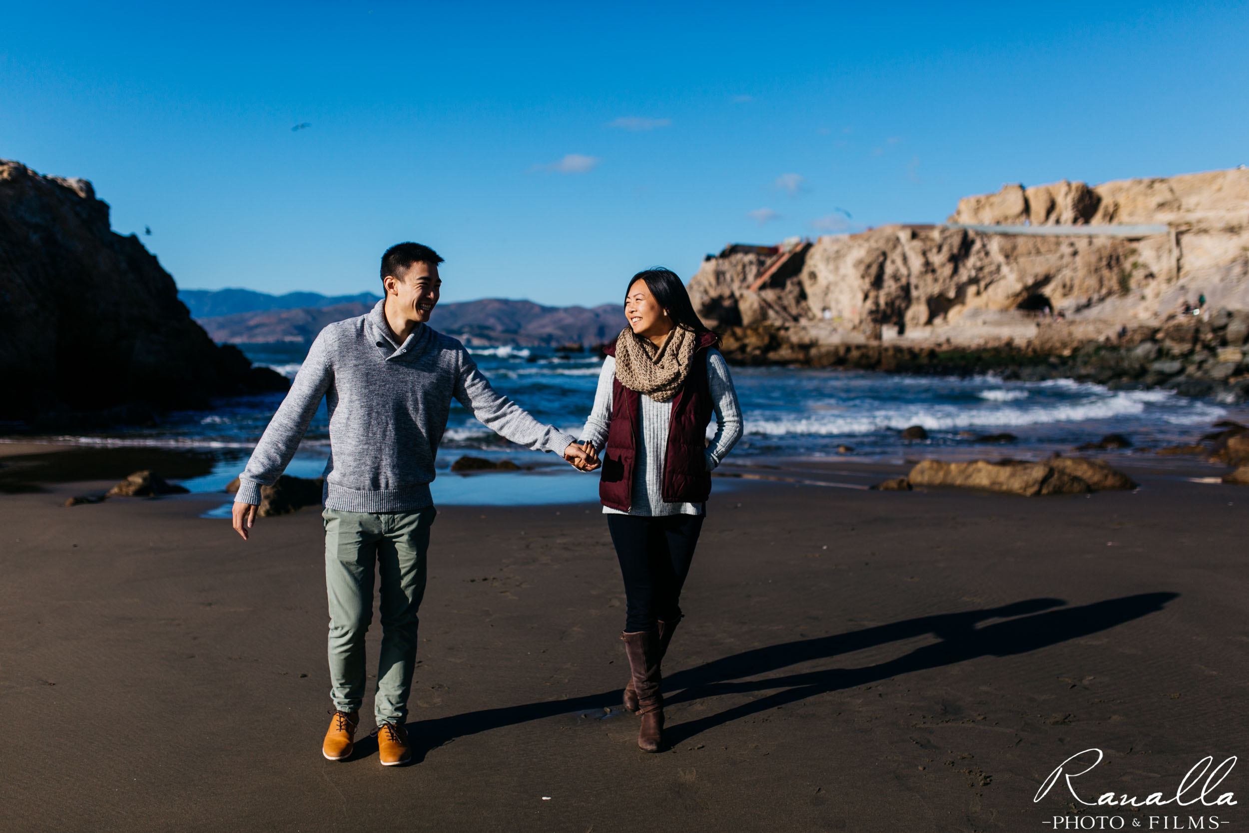 San Francisco Engagement Photography- San Francisco Coast- Lands End Wedding Photos- Ranalla Photo & Films