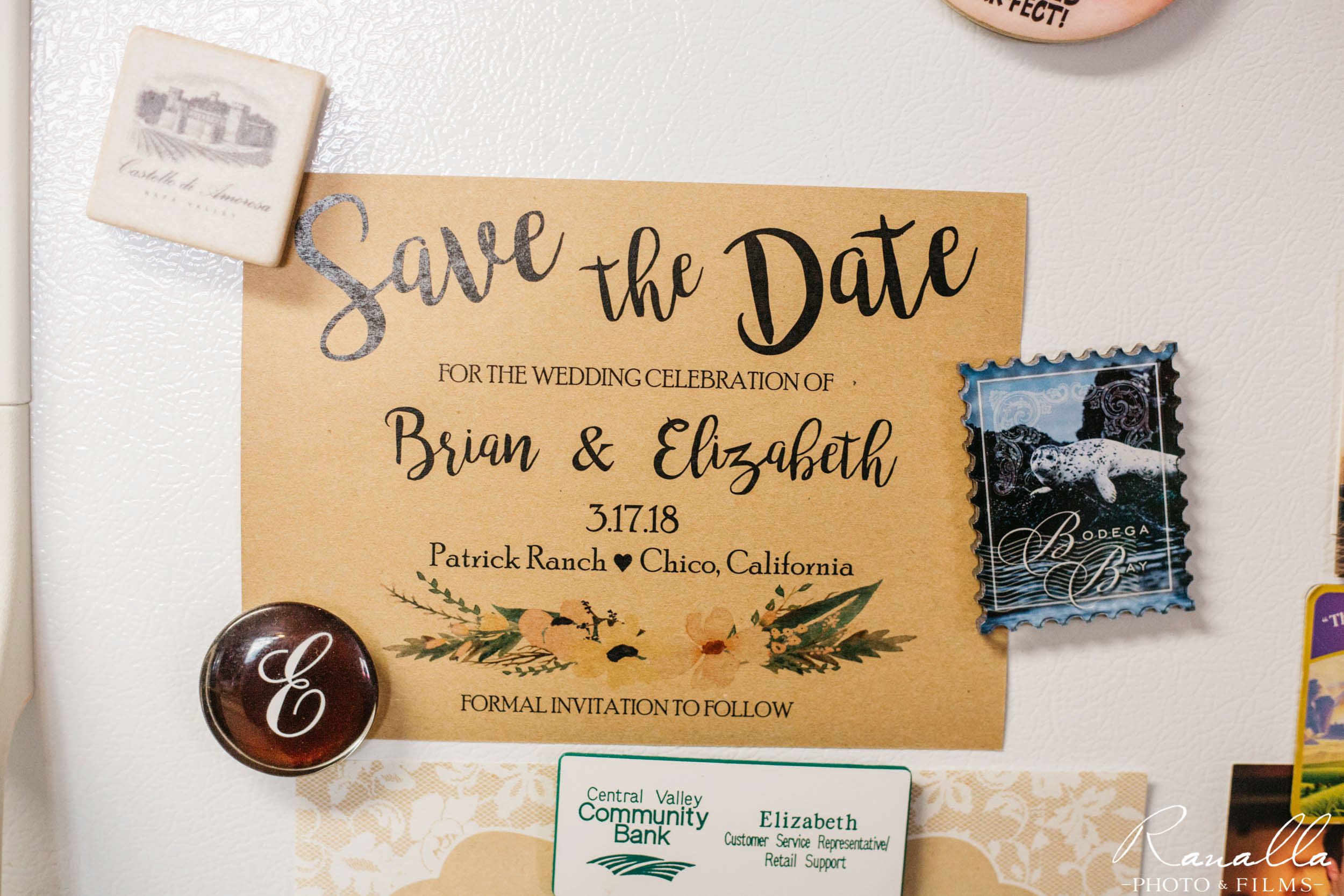 Chico Wedding Photography-Save the Date Card- Patrick Ranch Wedding Photos- Ranalla Photo & Films