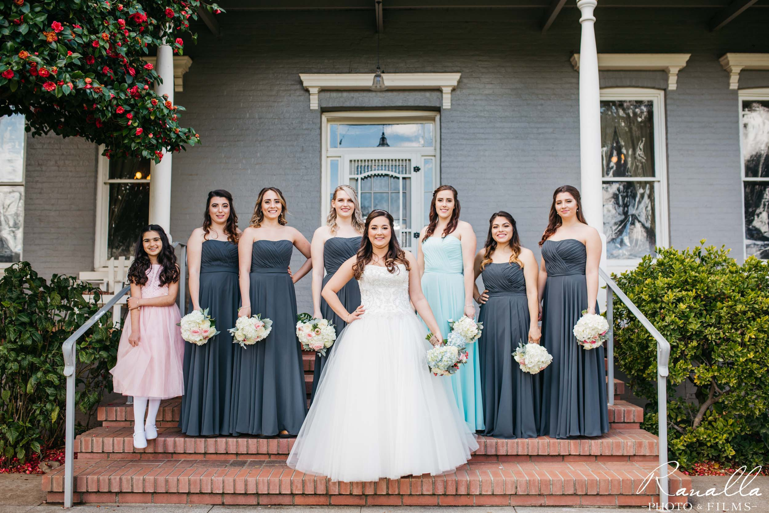 Chico Wedding Photography- Bridal Party on Porch- Patrick Ranch Wedding Photos- Ranalla Photo & Films