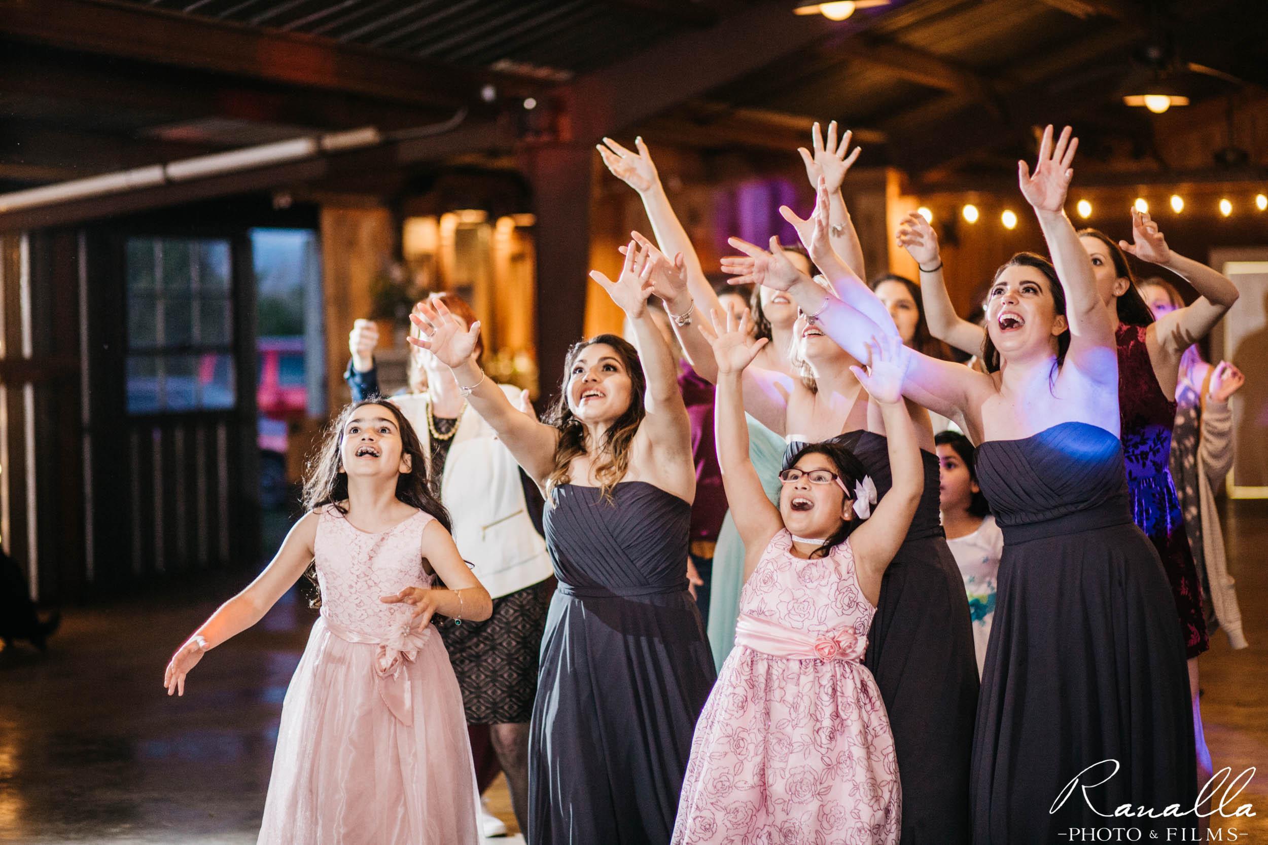 Chico Wedding Photography- Bouquet Toss- Elite Sound- Patrick Ranch Wedding Photos- Ranalla Photo & Films