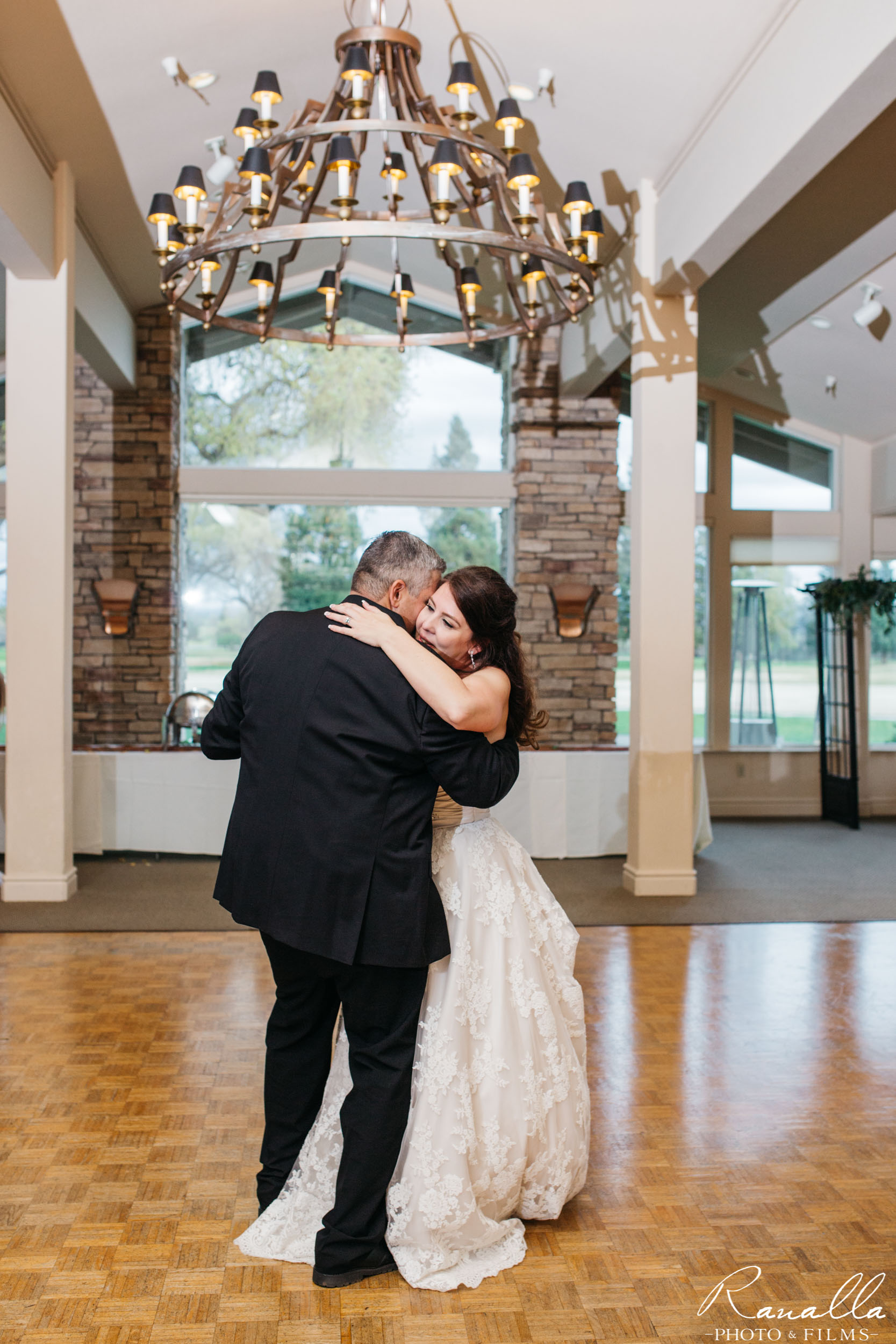Chico Wedding Photography- Bride and Groom Dancing- Butte Creek Country Club- Ranalla Photo & Films