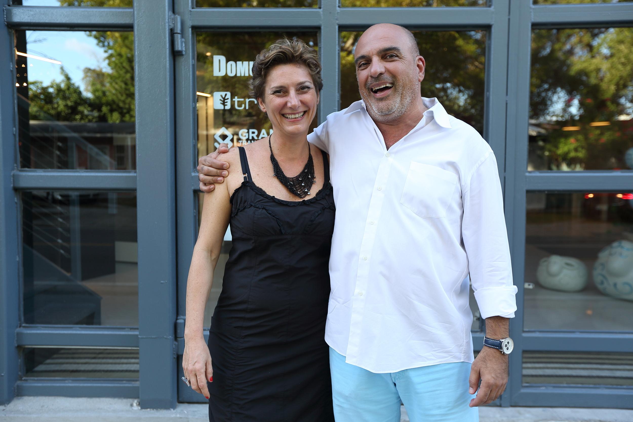 Elena Girardello and Miami Ironside Founder Ofer Mizrahi
