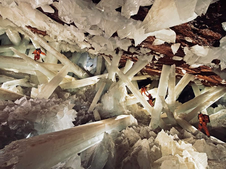 Cave of Crystals, Mexico by   Carsten Peter, Speleoresearch & Films