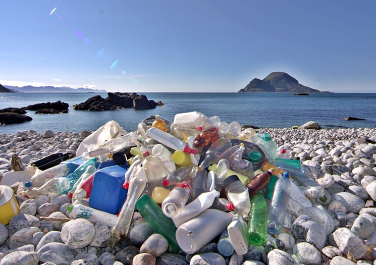 Environmentalists say single-use plastics pollute the oceans, causing damage to ecosystems.  Photo by  Bo Eide / Flickr