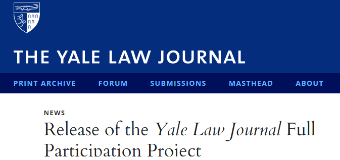 Prof. Susan Sturm released a report addressing issues of diversity, inclusion, and participation in the Yale Law Journal.