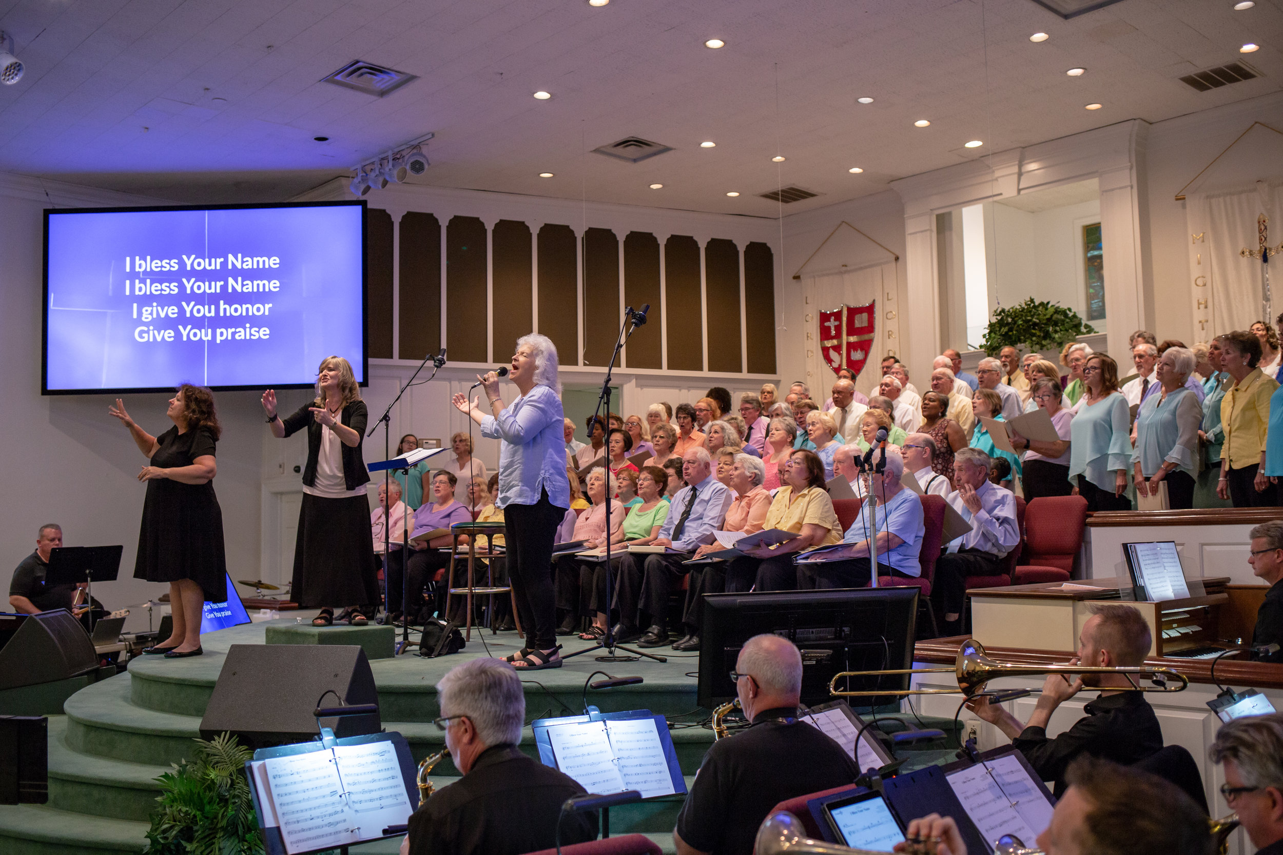 Warming up for a great night of music at our recent Gospel Concert…