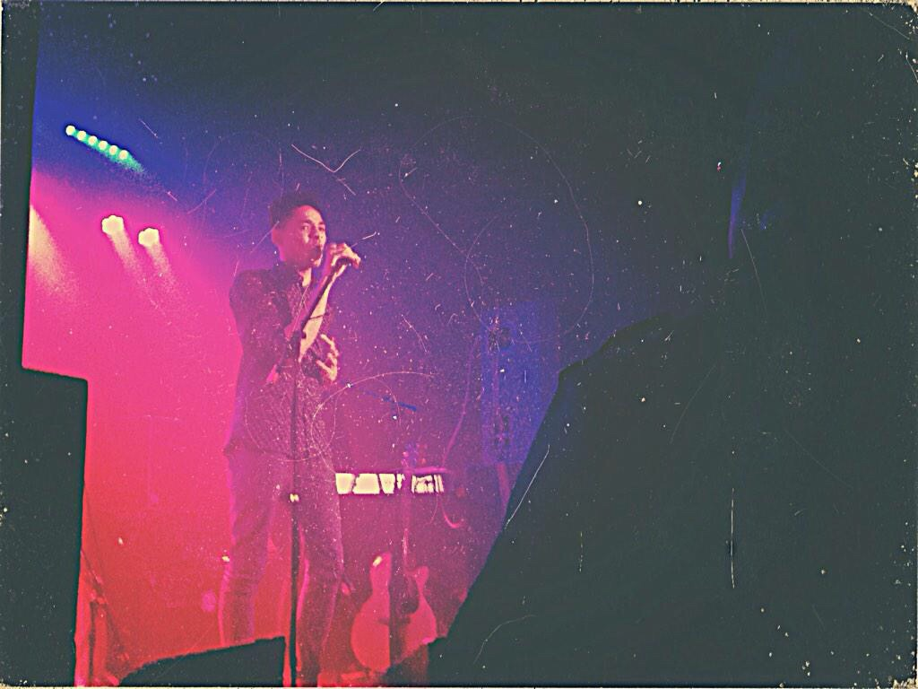 """Rob performs """"FEAR"""" at the Prisma Live Gig; supporting The Gorgeous Chans"""