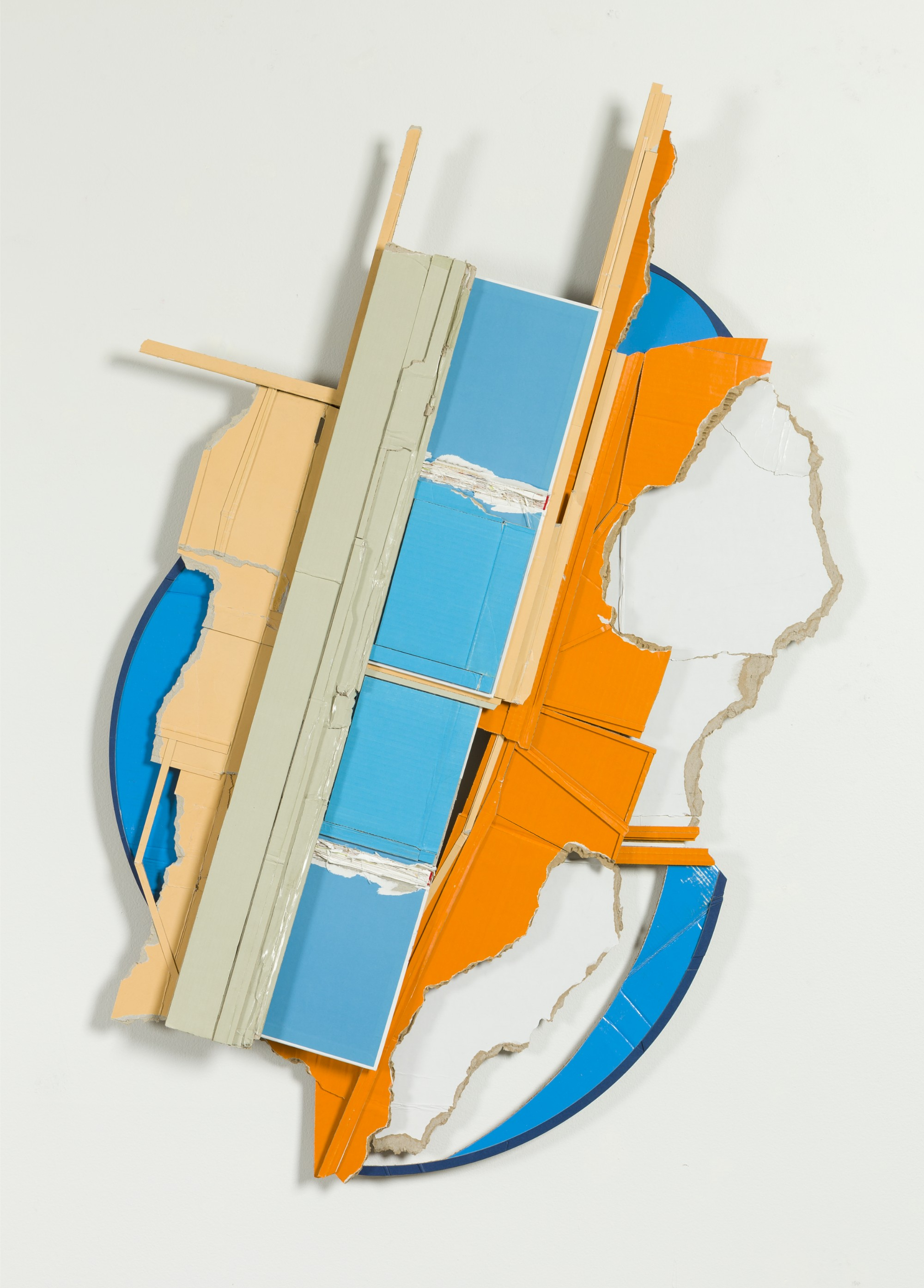 Upon the notice and early rally of new lines  , 2014  found, unpainted cardboard, cut book, foamcore  45.5L x 30W x 2.5D inches