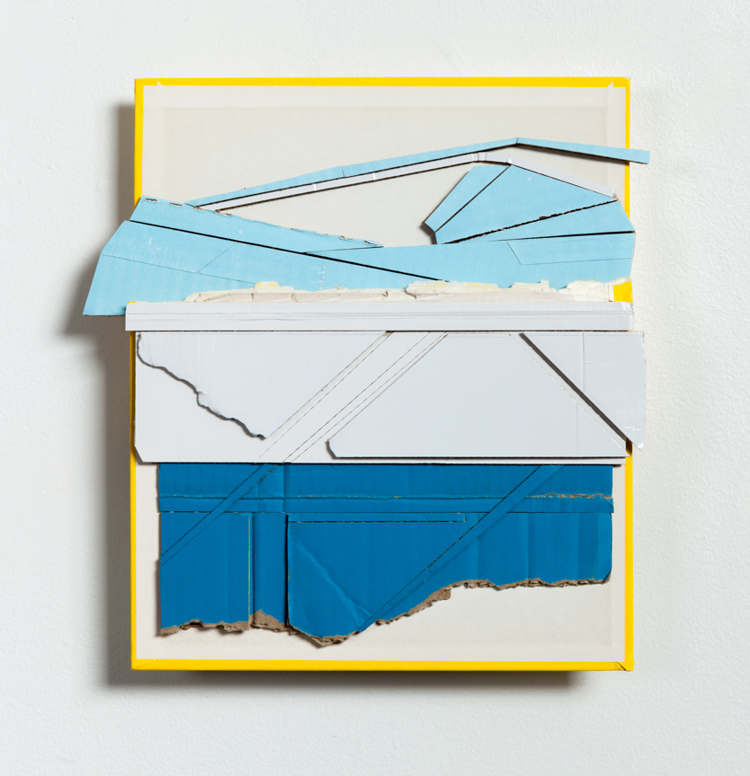 Current  , 2015  found (unpainted) cardboard, cut book cover, foamcore  Private Collection