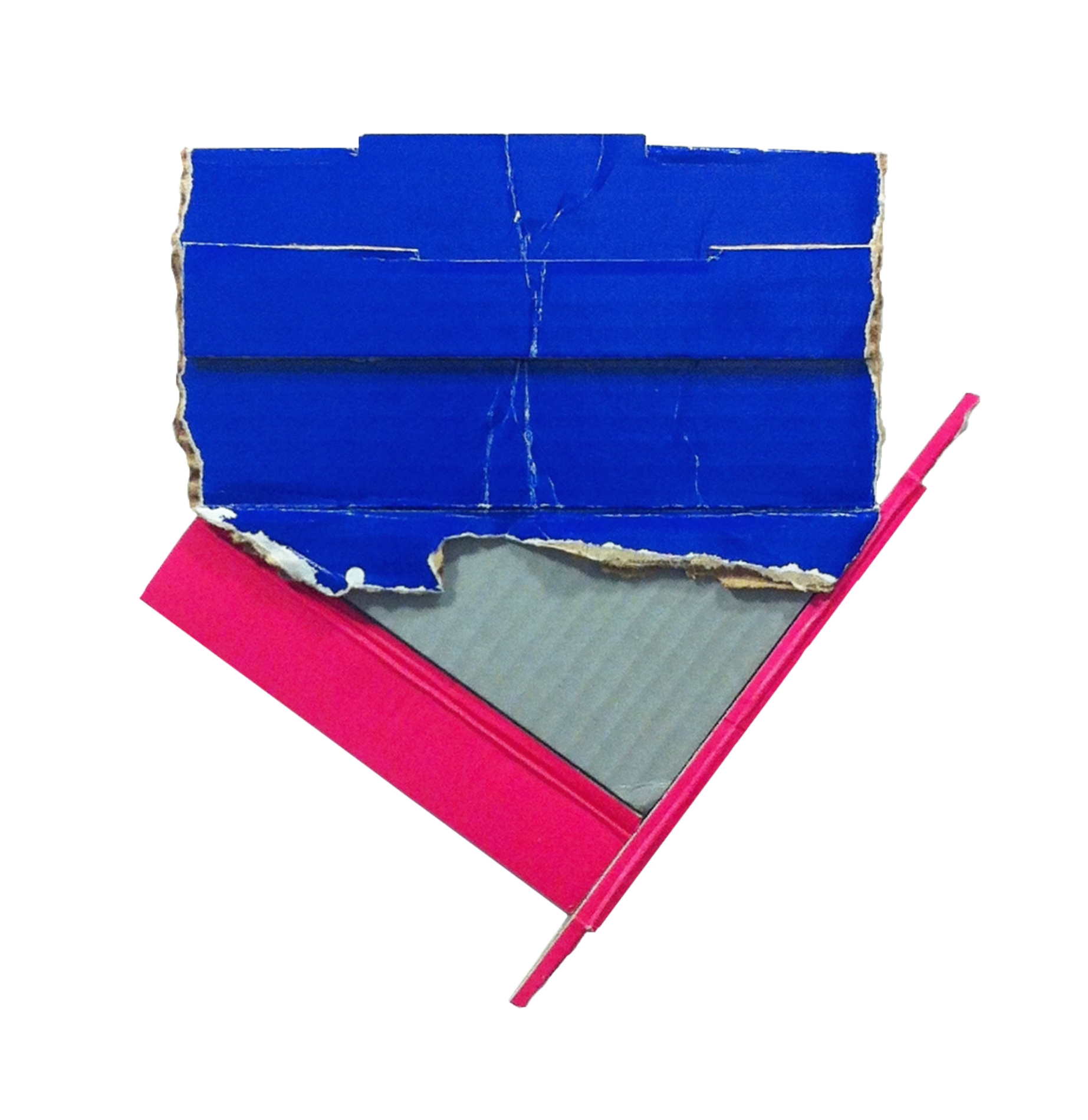 Stillpoint  , 2015  found (unpainted) cardboard, foamcore  9.25L x 8.75W x 1D inches