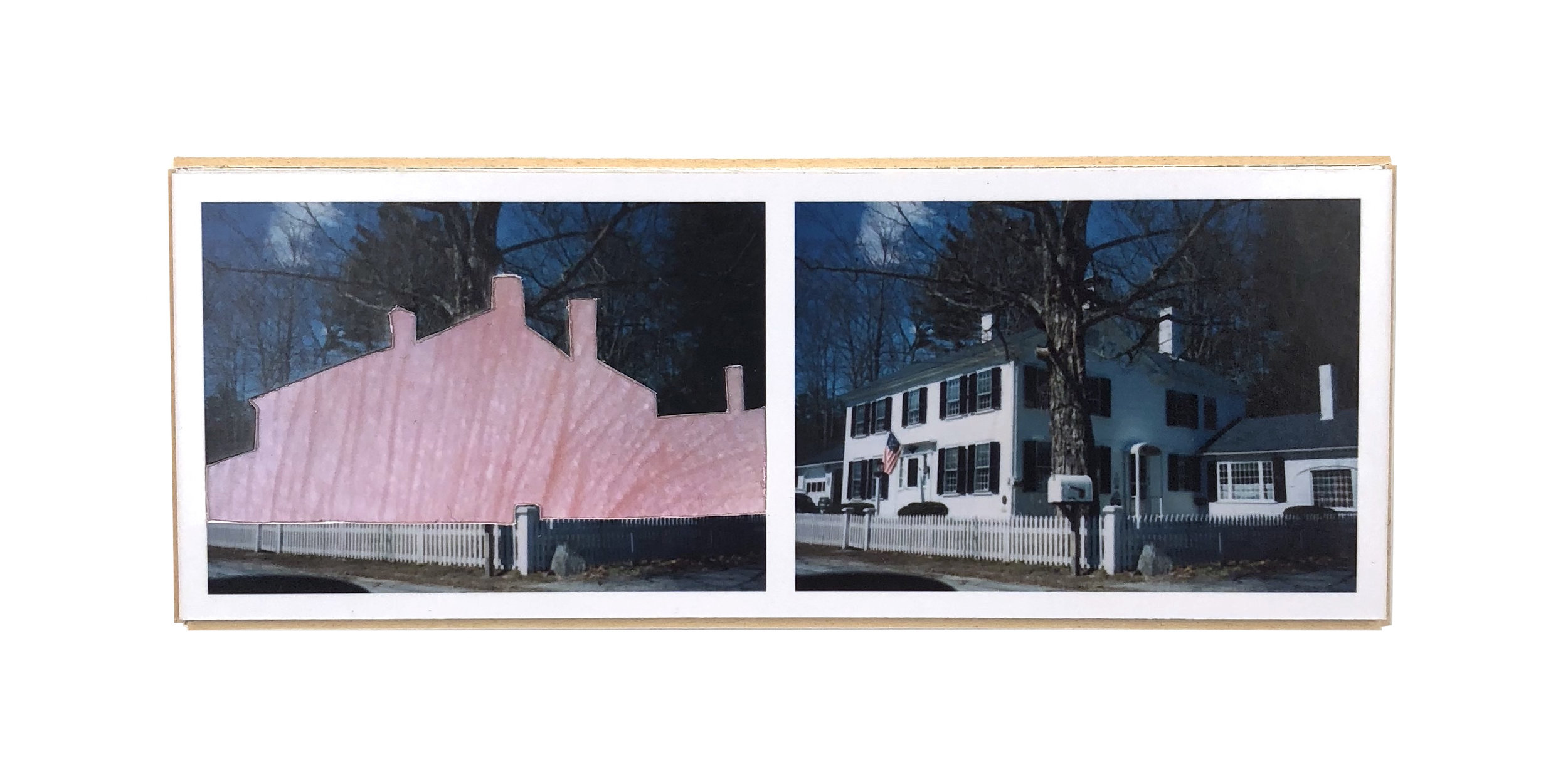Split, Warner   ,  2015  hand-cut photo-collage (mounted on matte board, foamcore)  2L x 5W x ¾ D inches