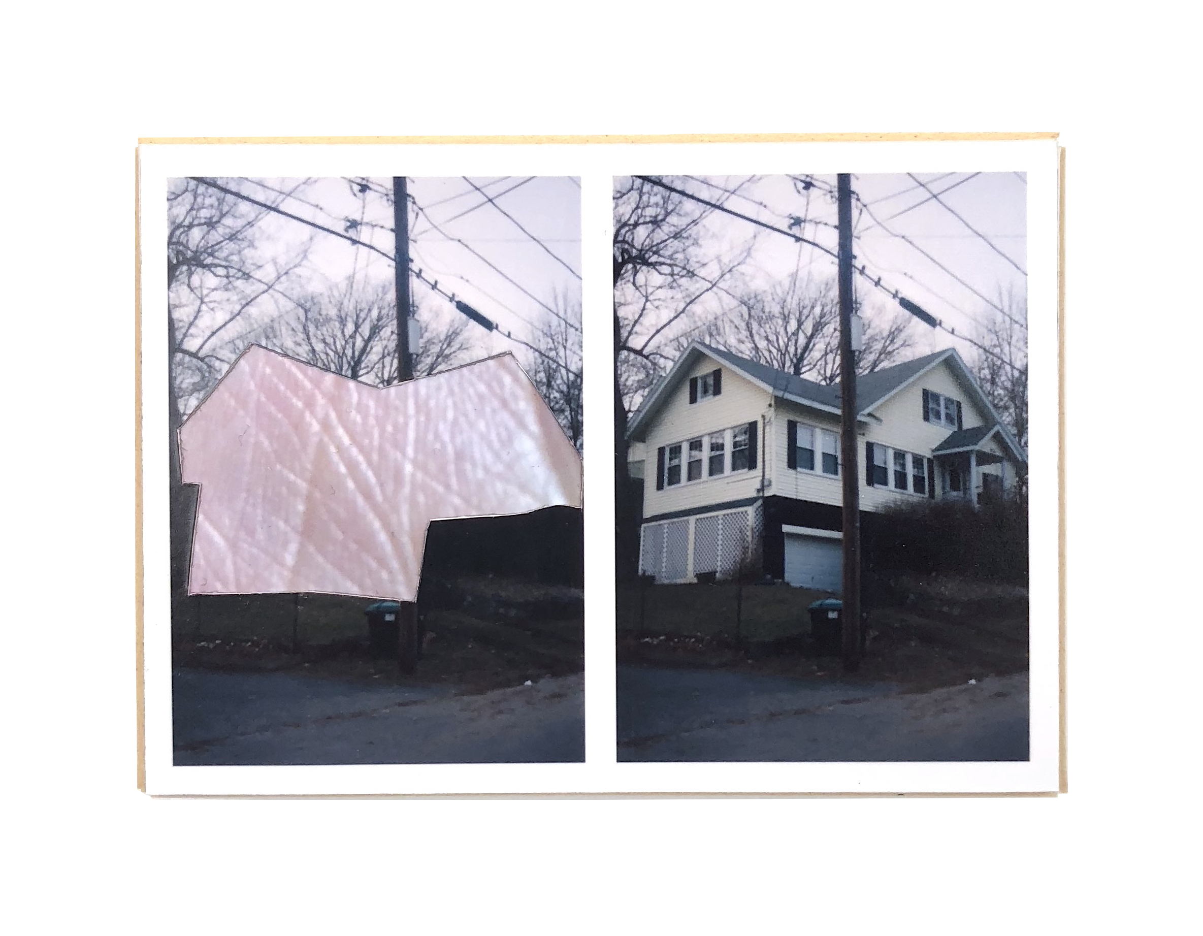 Split, Woburn   ,  2015  hand-cut photo-collage (mounted on matte board, foamcore)  2 ¾ L x 3 ¾ W x ¾ D inches