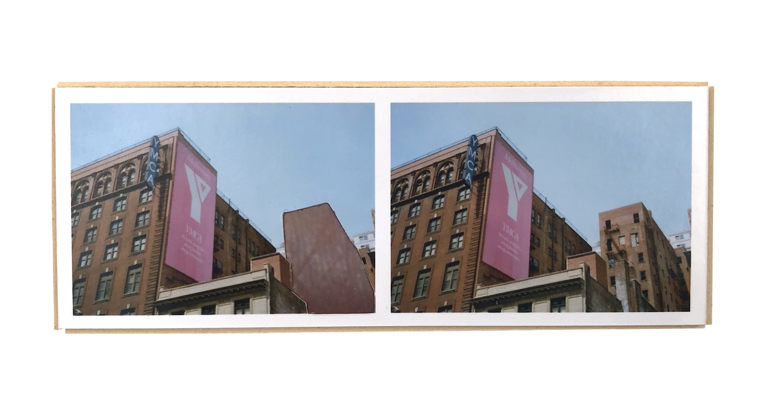 Split, Chelsea   ,  2015  hand-cut photo-collage (mounted on matte board, foamcore)  2L x 5W x ¾ D inches