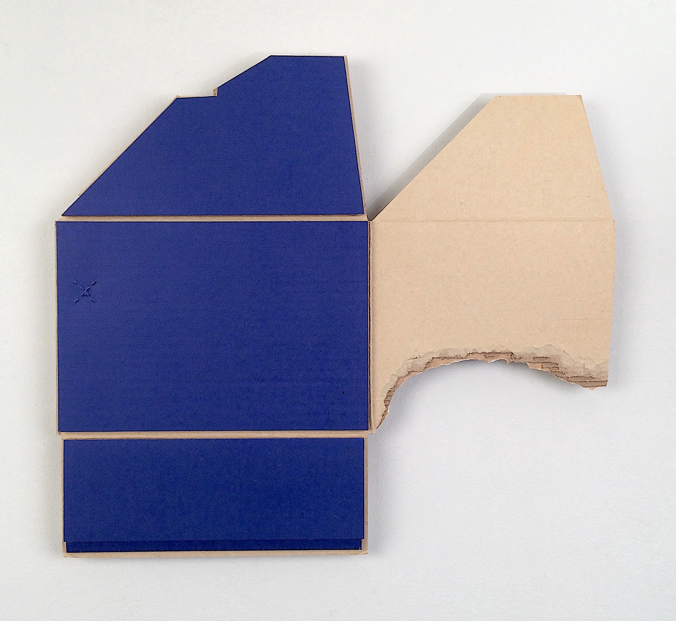 I don't know you from any other place  , 2017  found (unpainted) cardboard, foamcore  15 x 16.5 x 1 inches