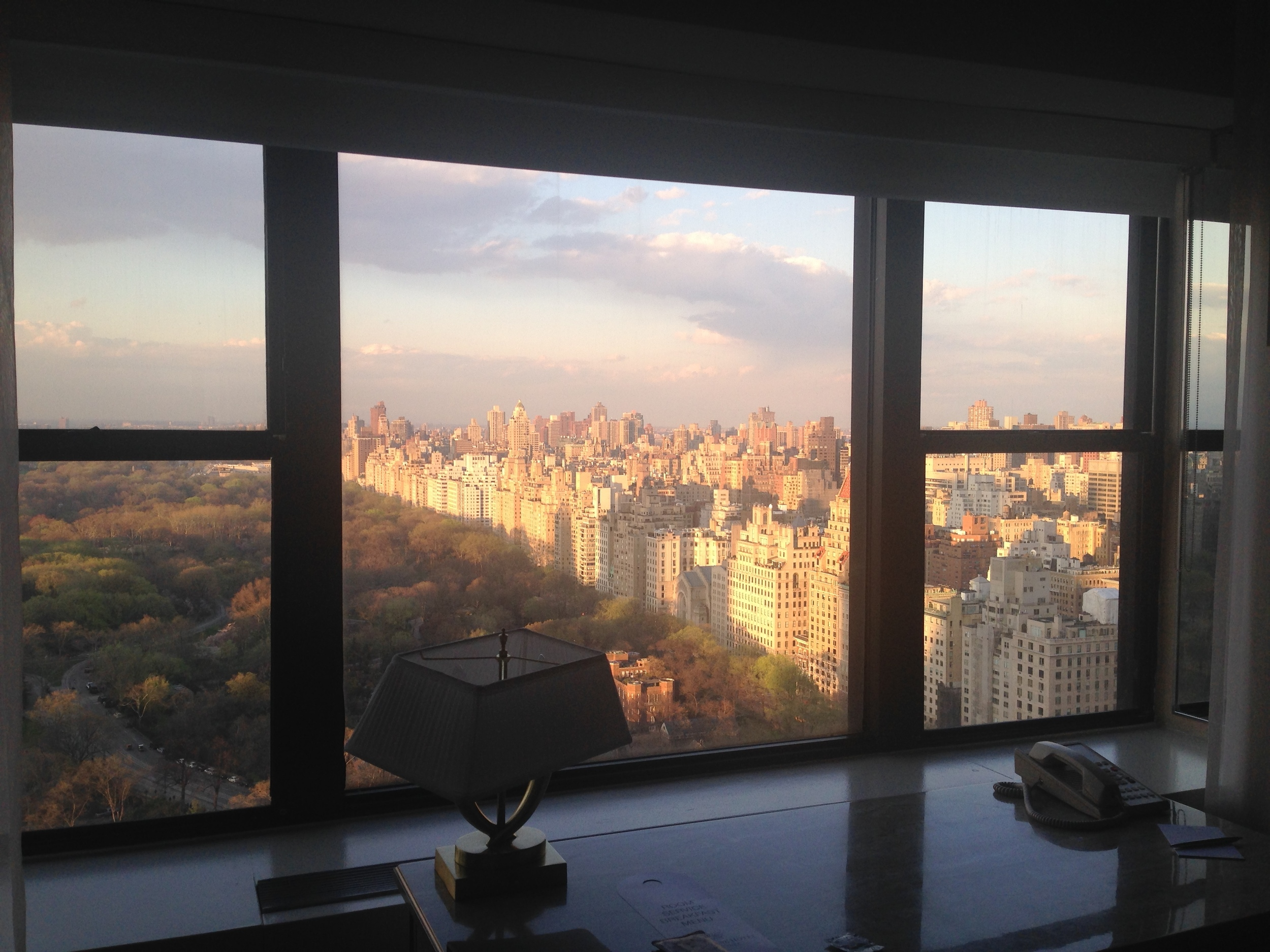 The view from our little retreat overlooking Central Park.