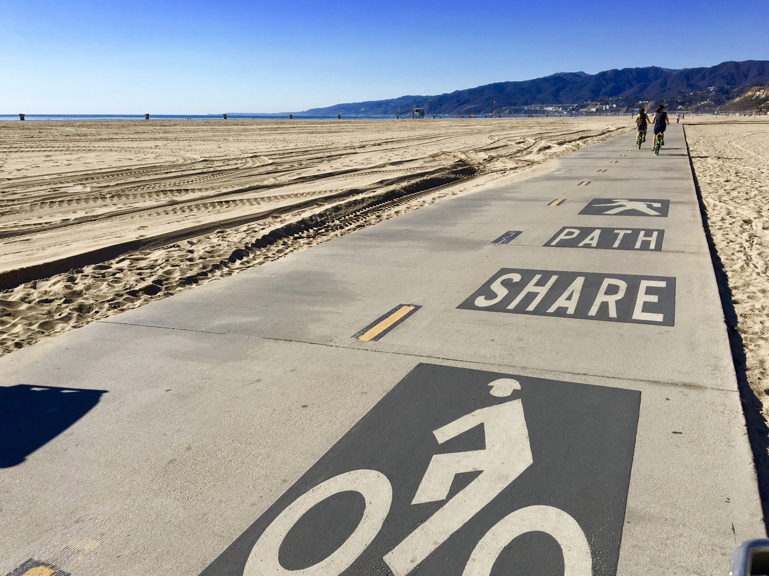 Sometimes the best thing to do is go for a bike ride at the beach in Santa Monica. A great reminder of the wisdom to share the path with everyone, whether we agree with them or not.