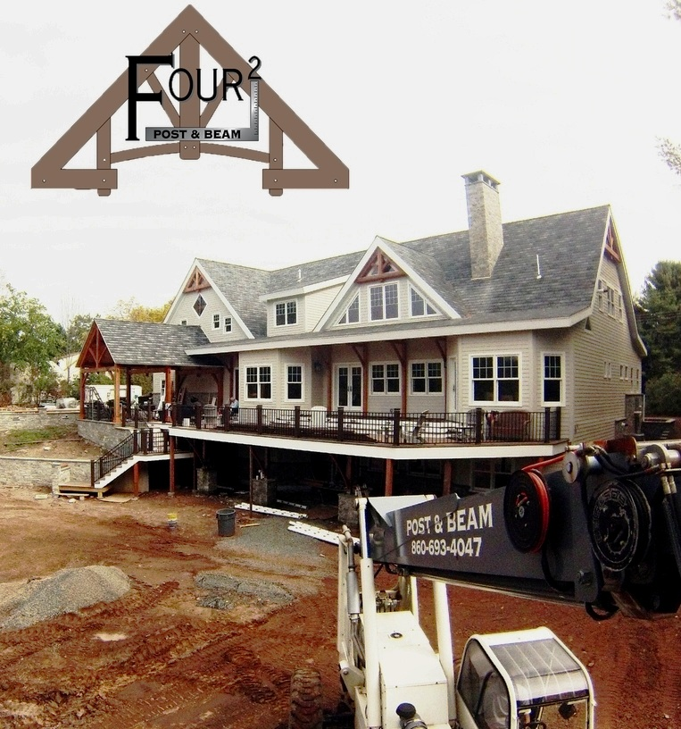 Click the photo above for a video time-lapse of this timber framed home