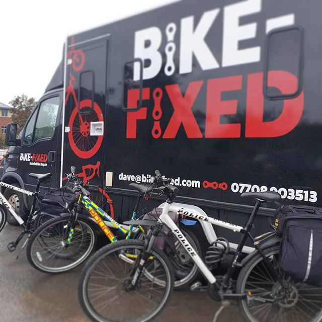 #somethingdifferent today servicing a few bikes in different locations with #healthandwellbeing for Dorset Police this week 😁