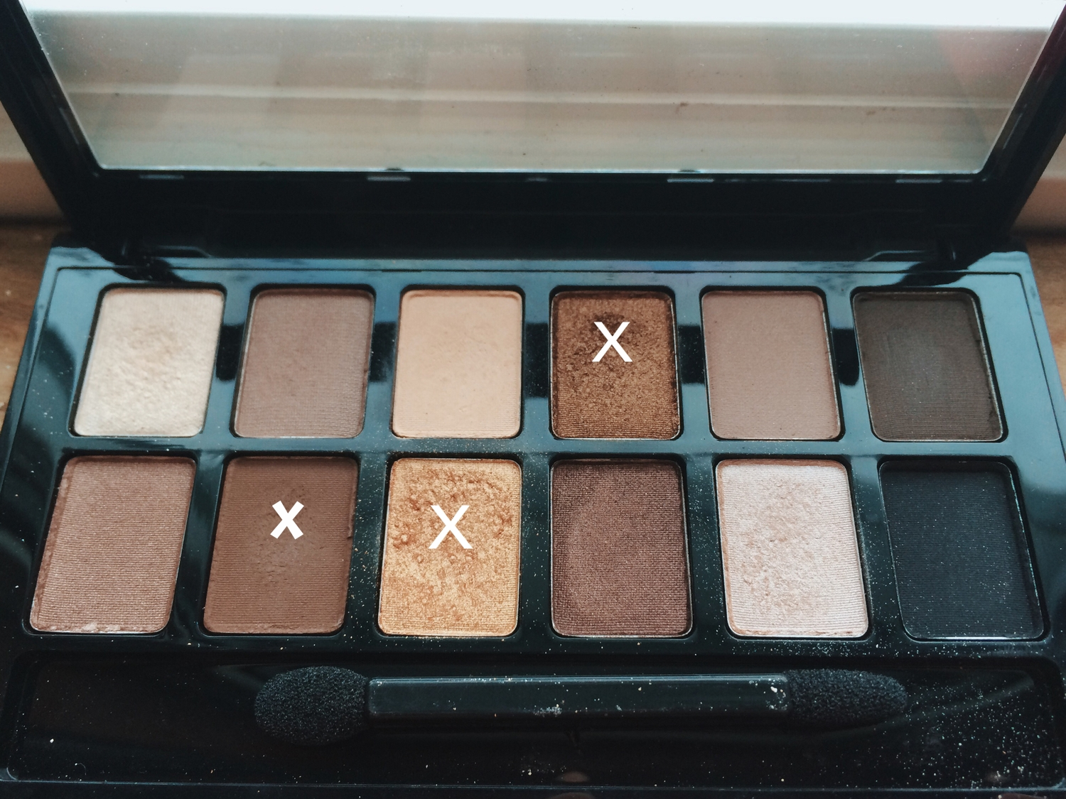 these are my most used shadows from this palette