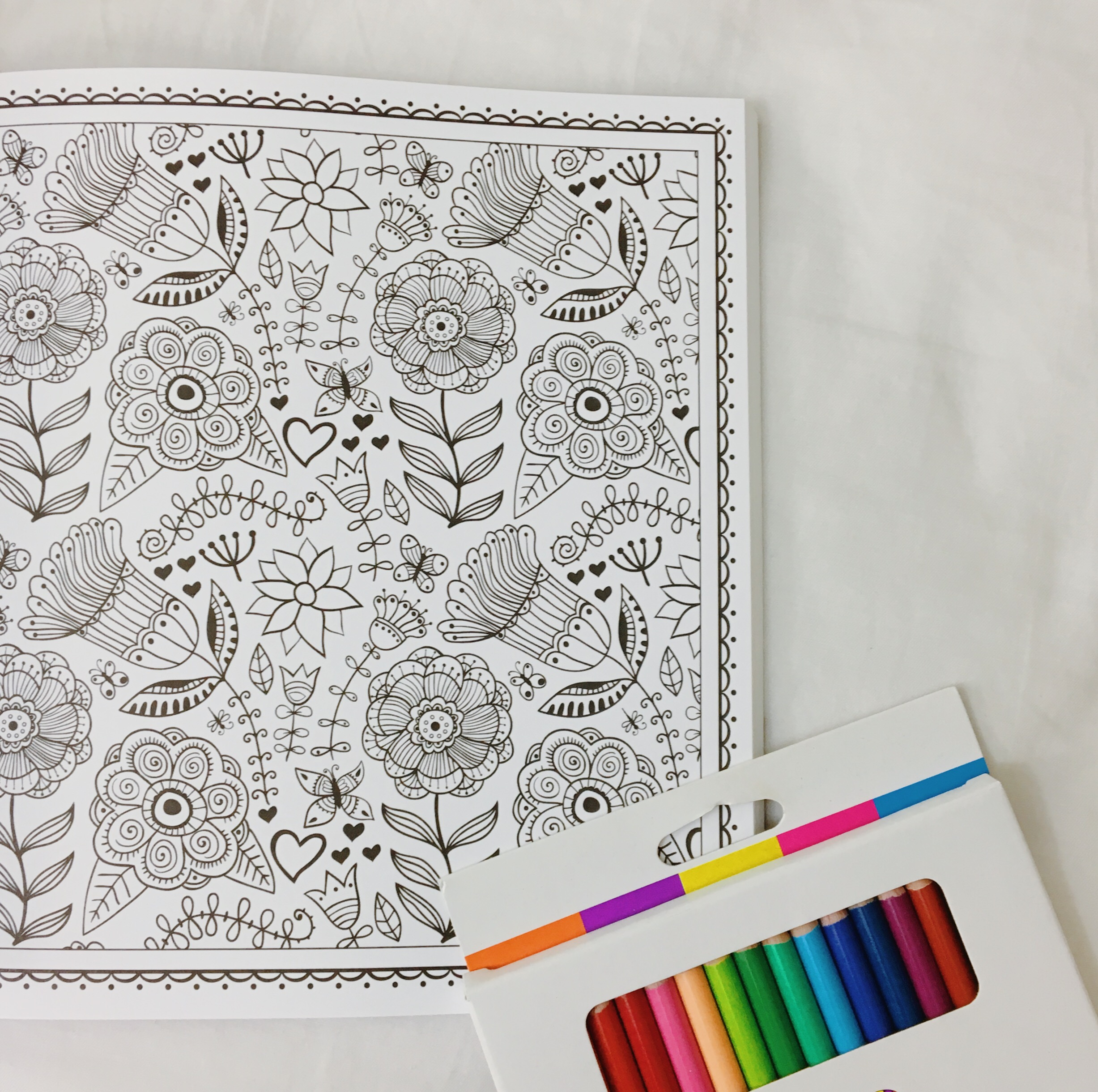 adult coloring book flowers