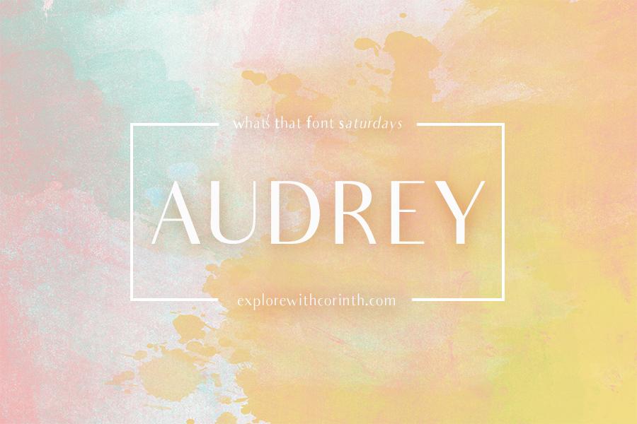 Audrey Font (FREE)