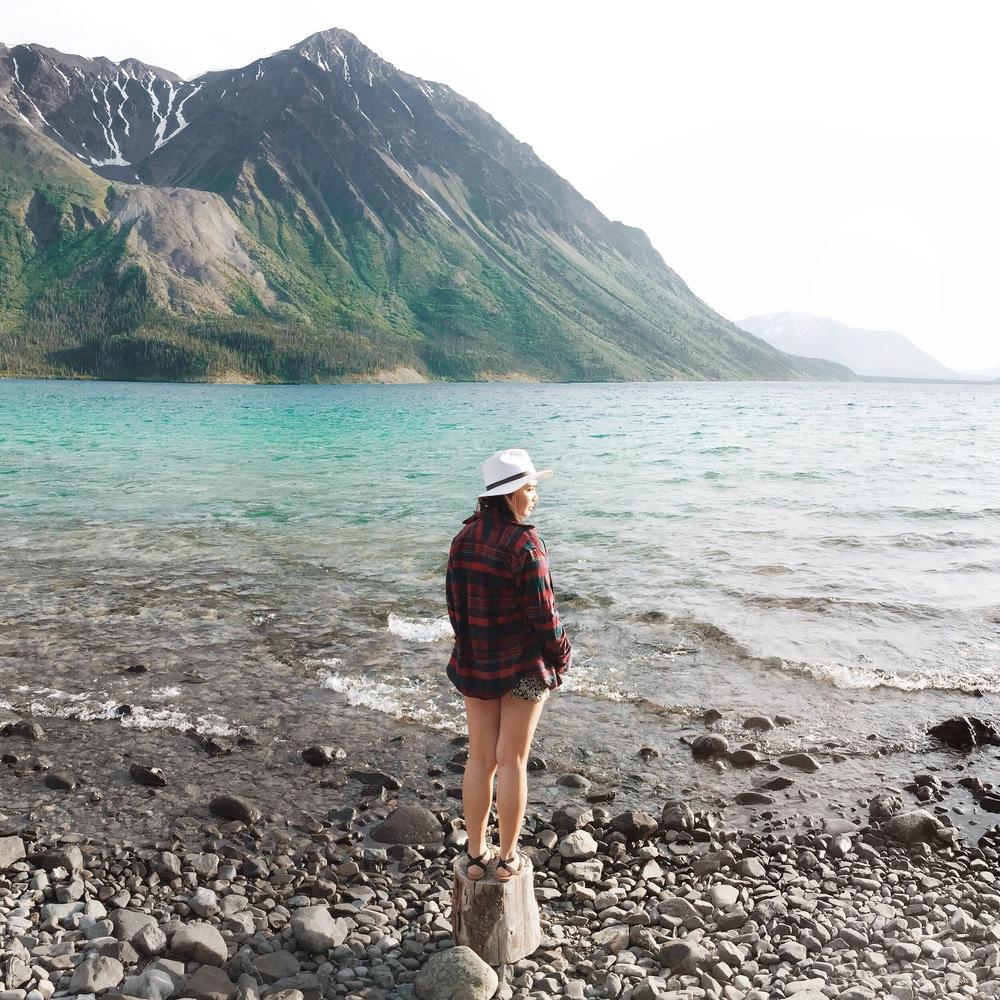 Kathleen Lake in Yukon, Canada.