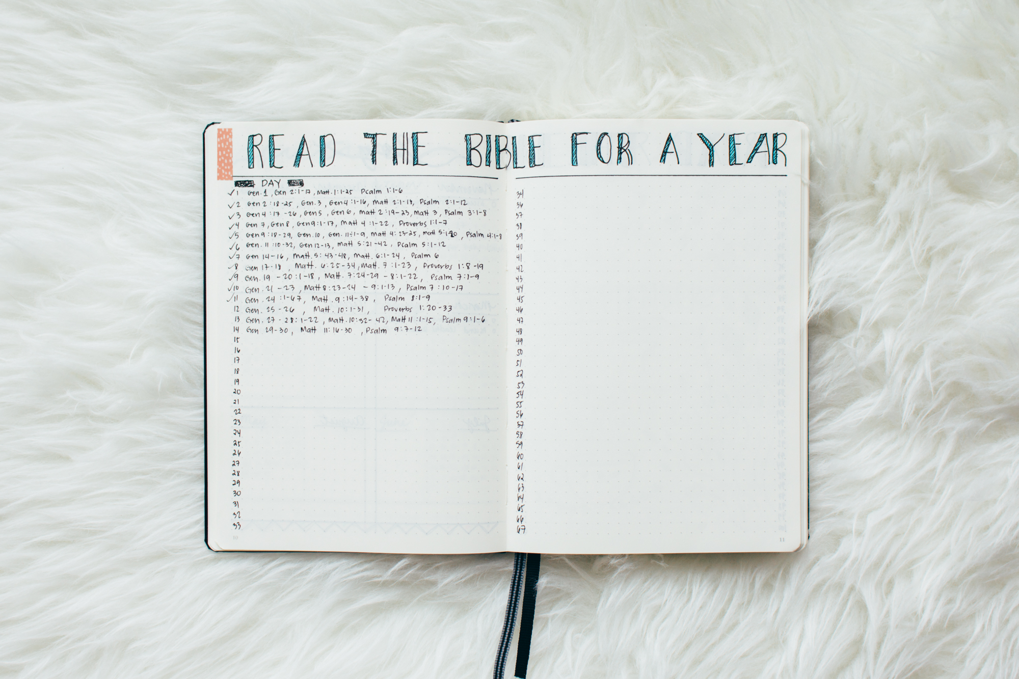My Bible Reading Plan Spread