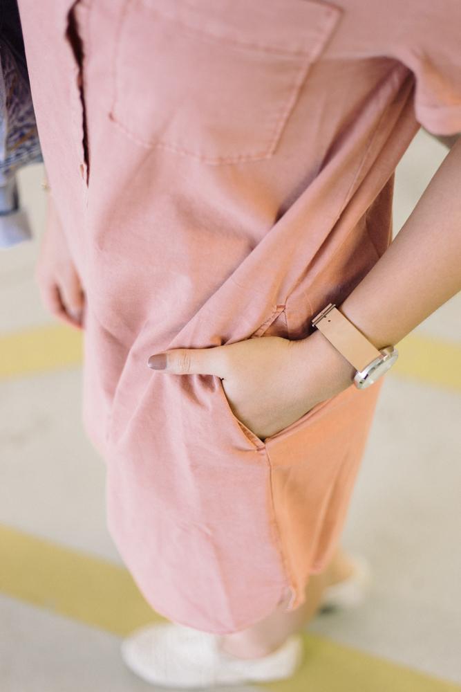 JustFab Blush Tshirt Dress
