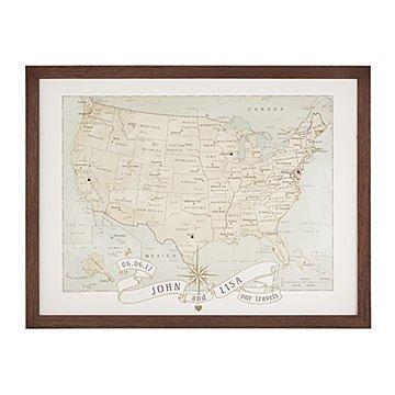 Personalized Push Pin USA Map