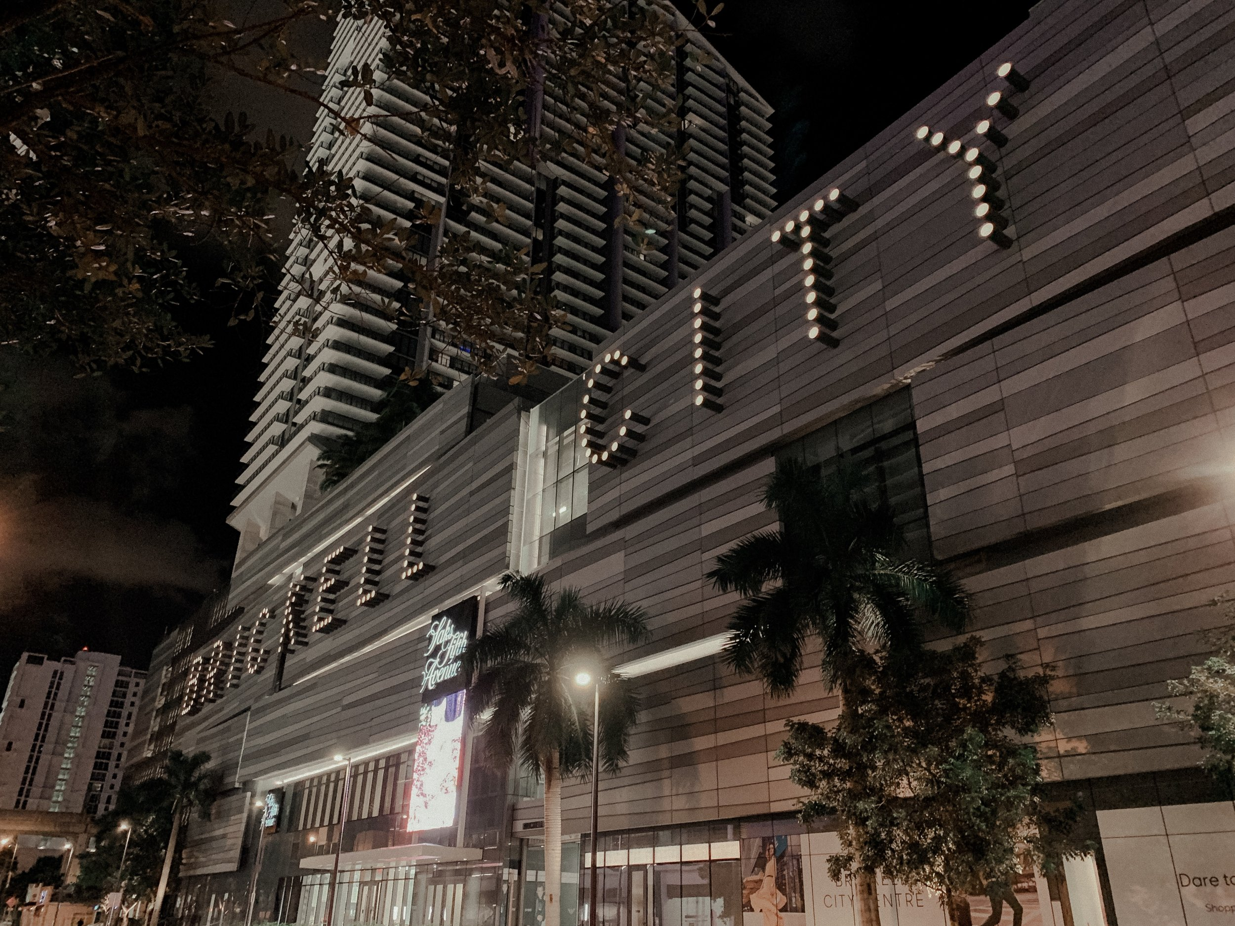 Our First Night in Miami - Brickell City Centre