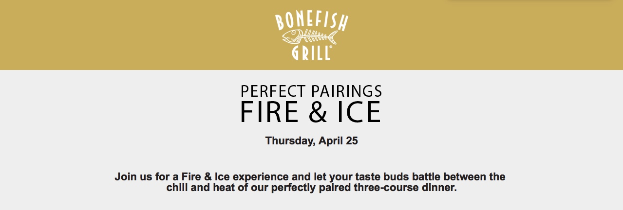 Bonefish Grill Fire & Ice Event