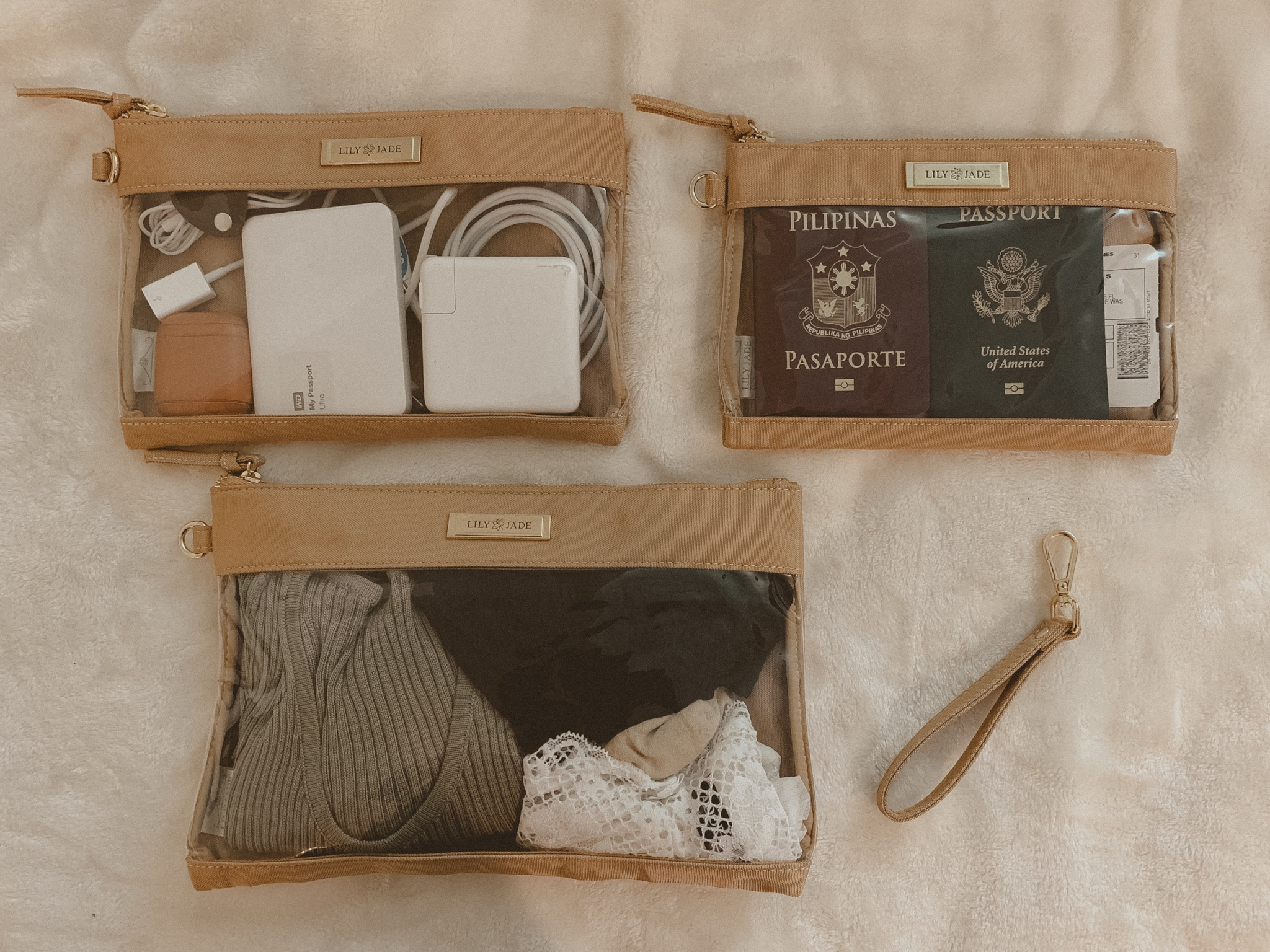 Electronics // Passports & Boarding Passes or Paperwork // Clothes & Intimates