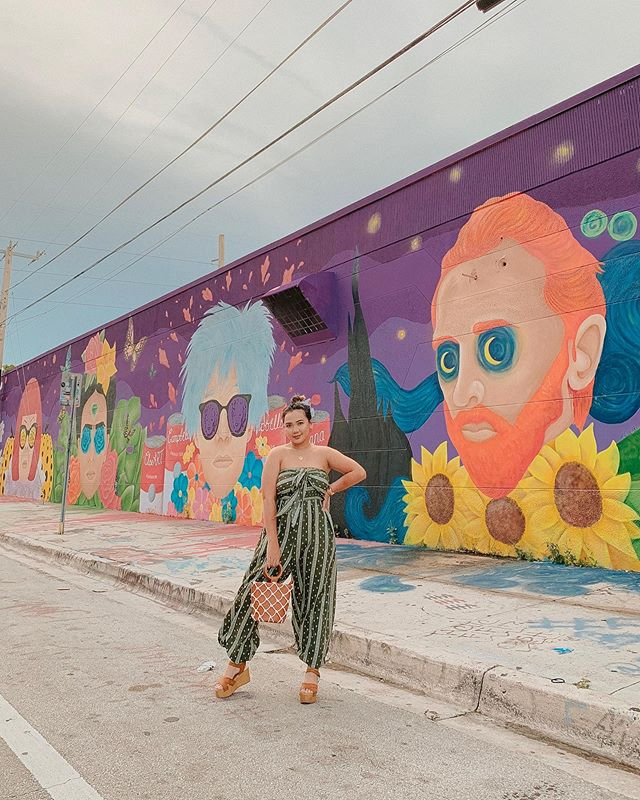 We found this wall by accident and it easily became my most favorite out of all the beautiful murals in Wynwood. Swipe to see the exact location of this masterpiece. It's definitely the one wall you need to see in Miami. . CAN YOU NAME ALL OF THEM? . @cloehakakian, your art is so beautiful I don't even have enough good adjectives to describe it. I'm in love! — 📸@jorge.suarez // #CorinthPresets - Summer