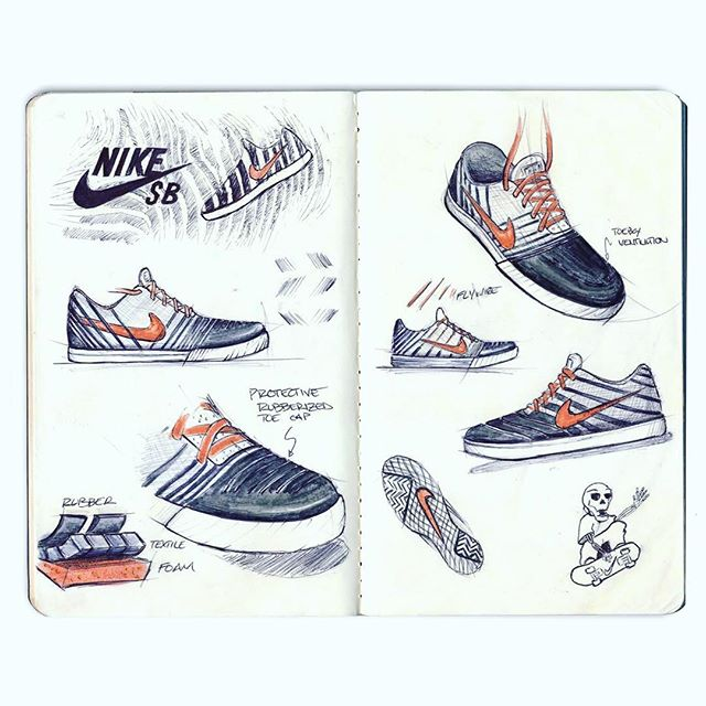 #tbt 2015 - Nike SB concept ... Rubberized coating protects upper from wear when dragged. Inspired by zebra stripes