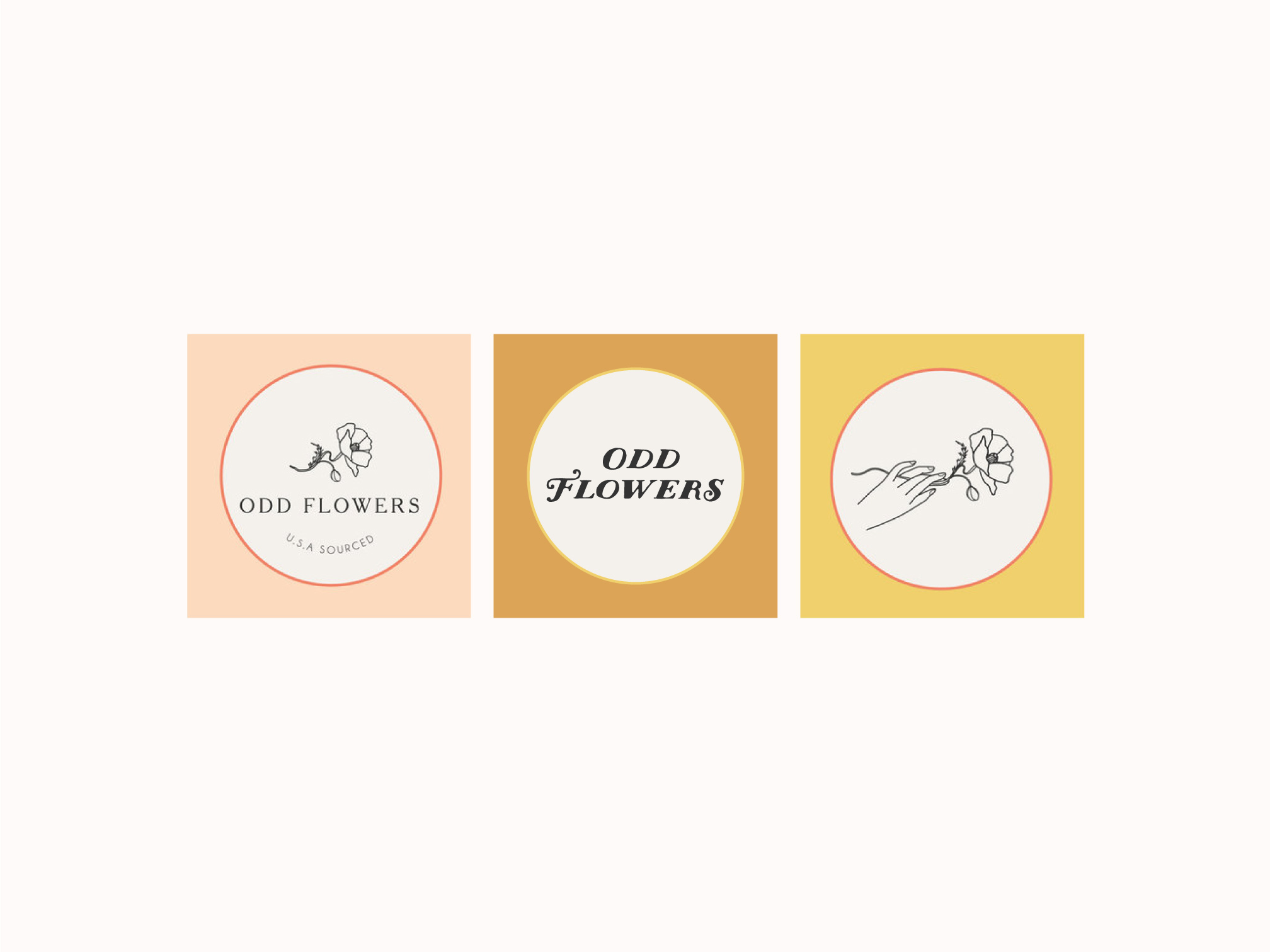odd flowers logo sticker designs