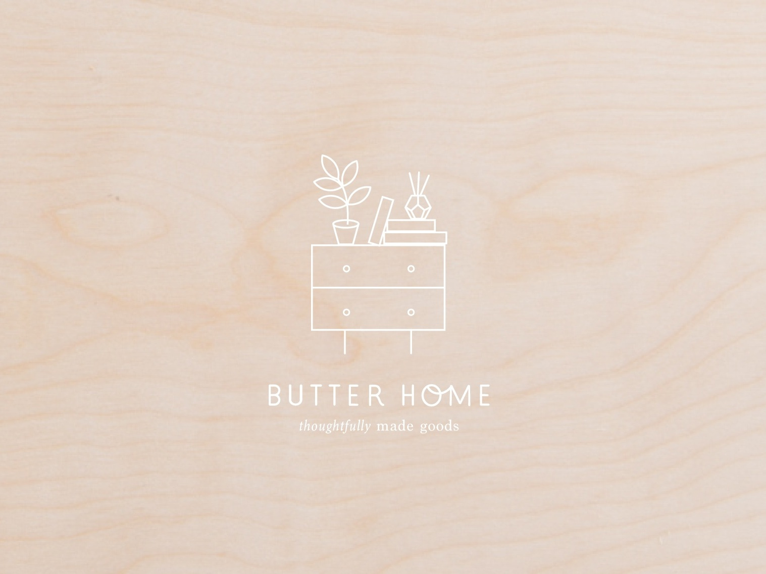 butter home seattle logo design