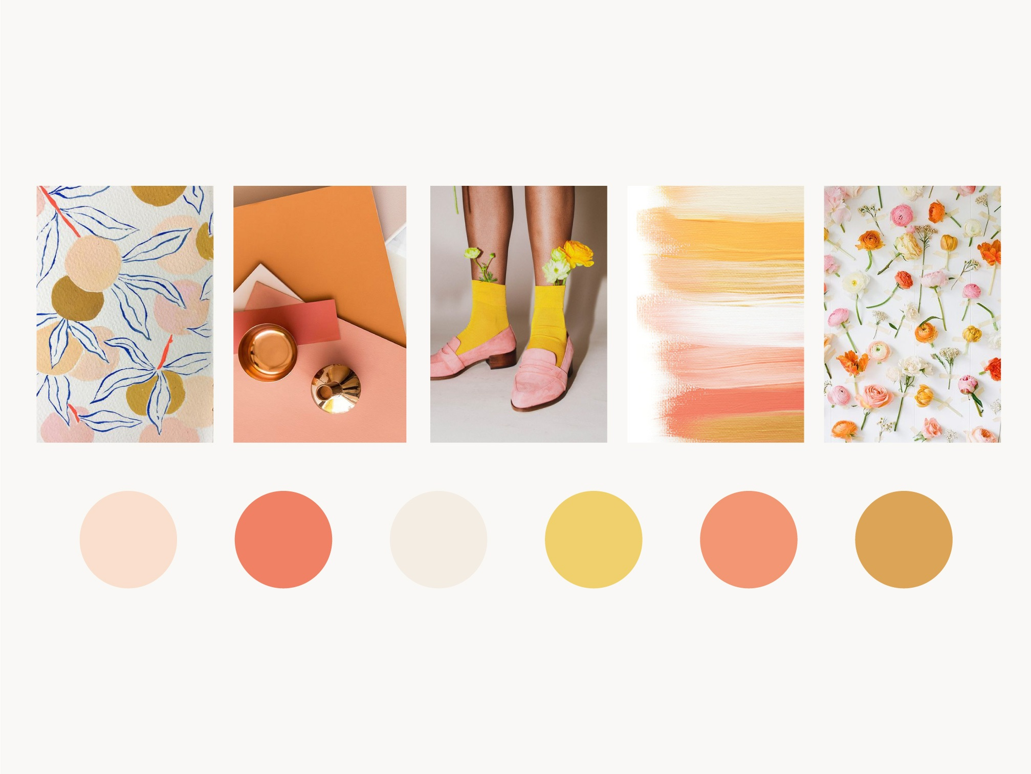 odd flowers mood board color swatches