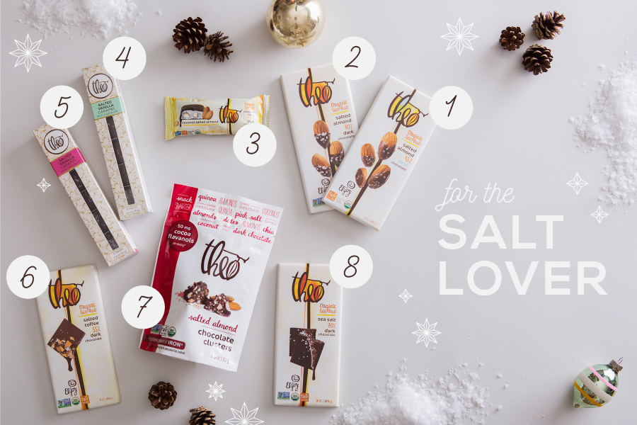 theo chocolate-holiday gift guide-products with salt-nelleclark