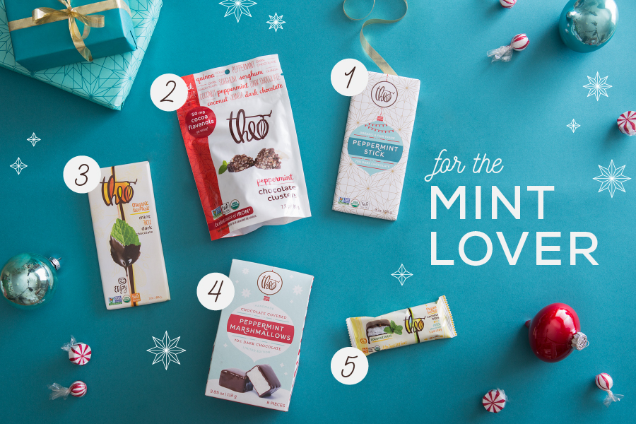 theo chocolate-holiday gift guide-products with mint-nelleclark