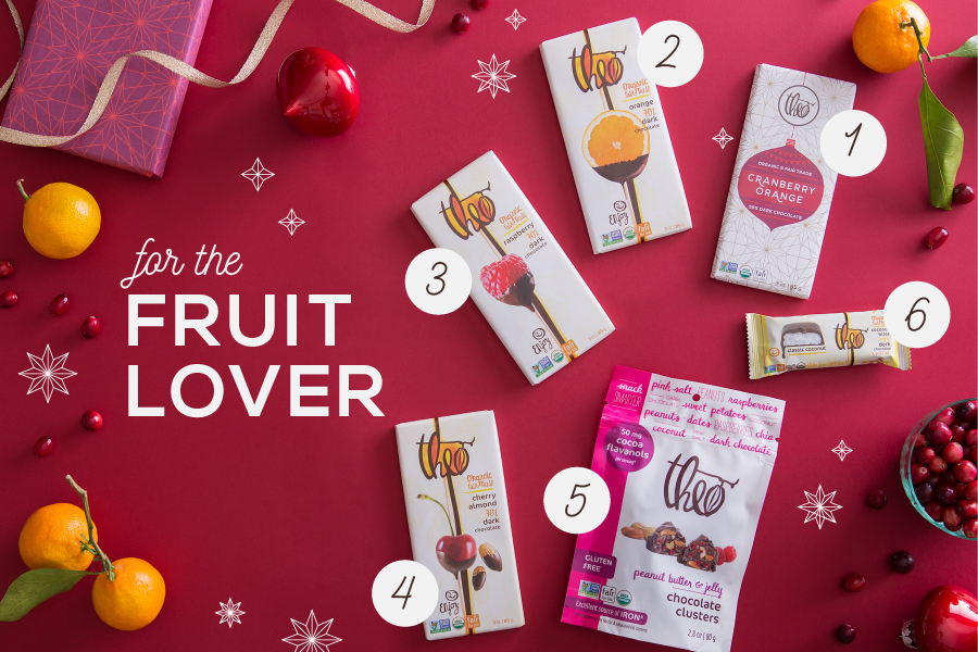 theo chocolate-holiday gift guide-products with fruit-nelleclark