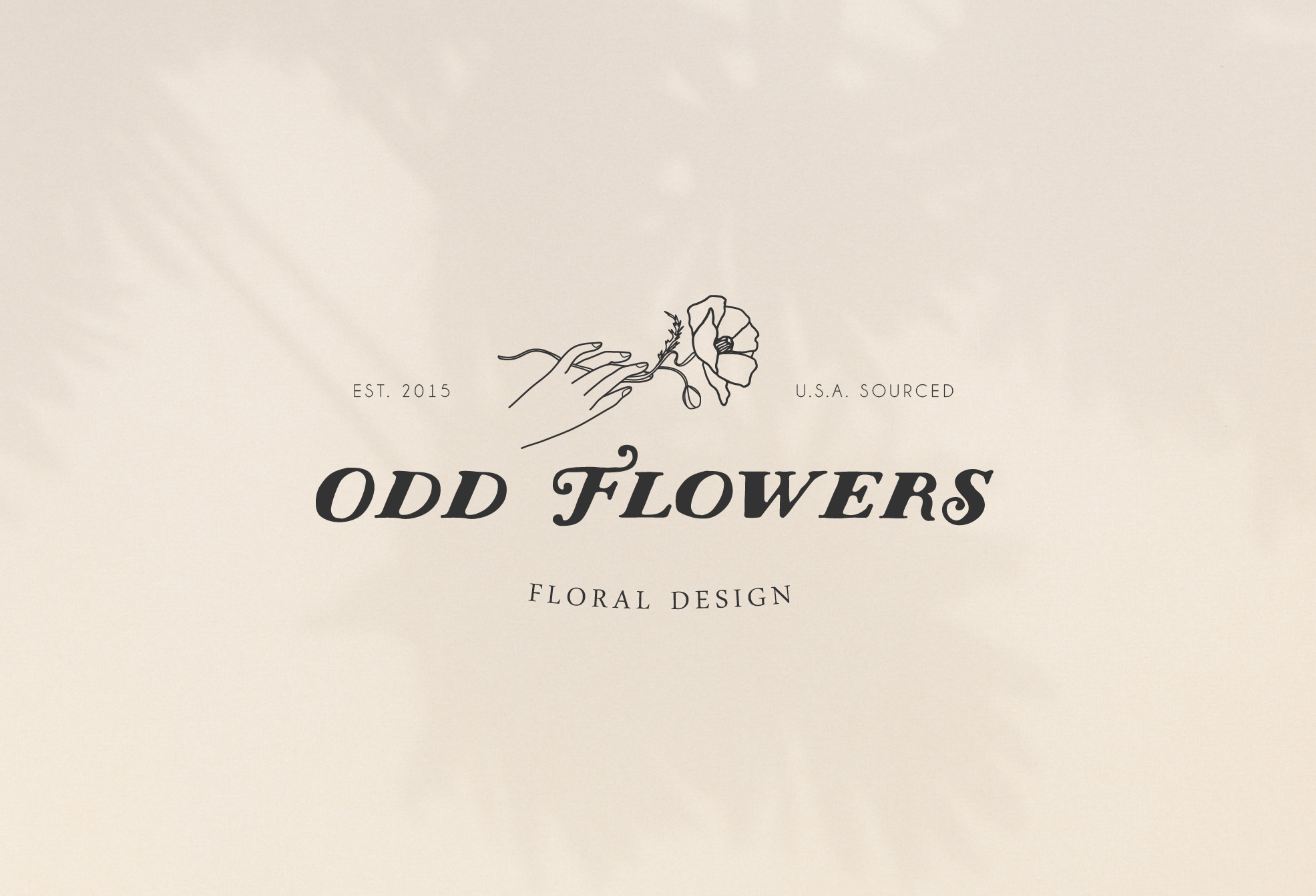 odd flowers flower arrangements logo design