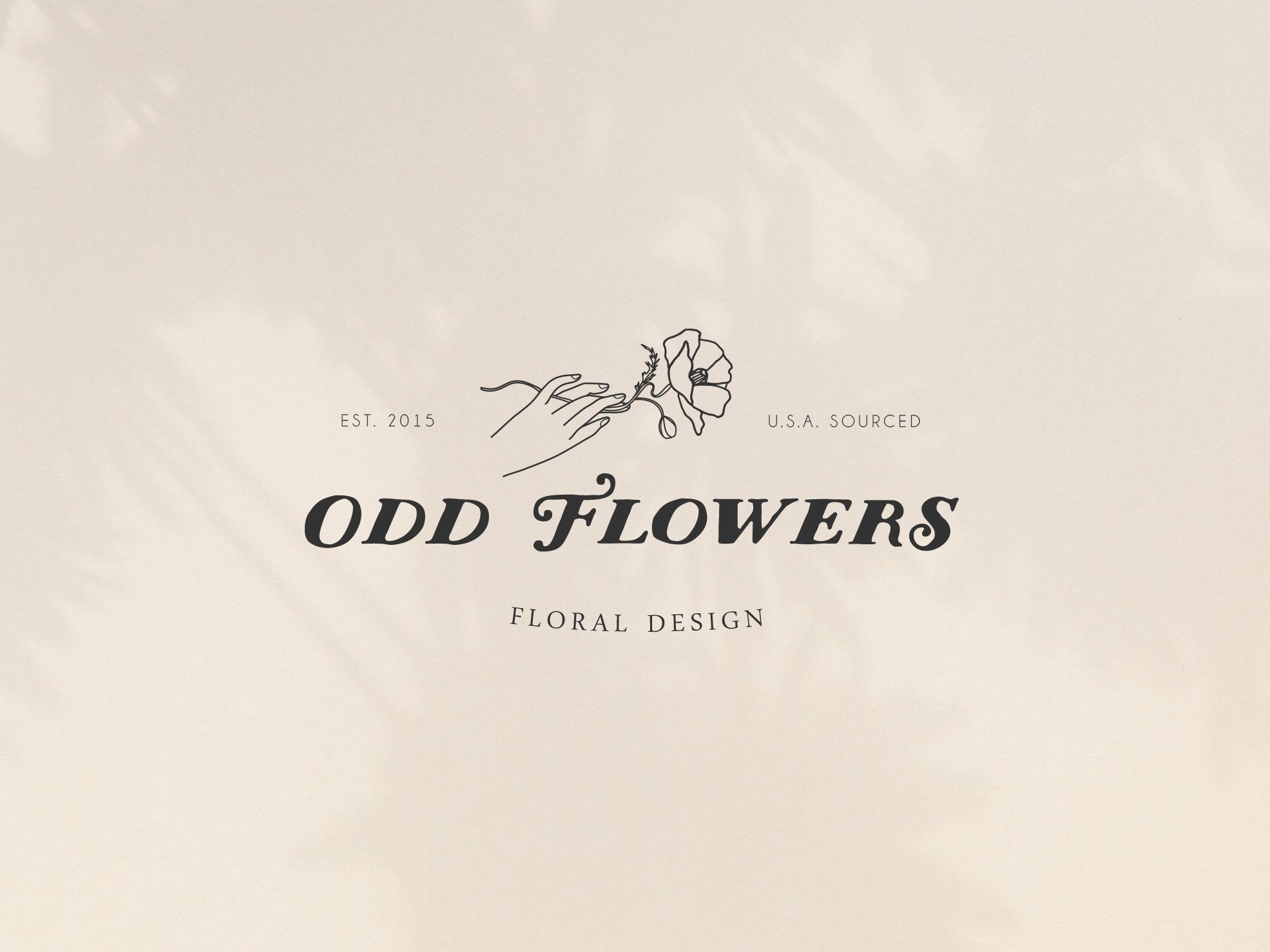 odd flowers-logo-nelle clark