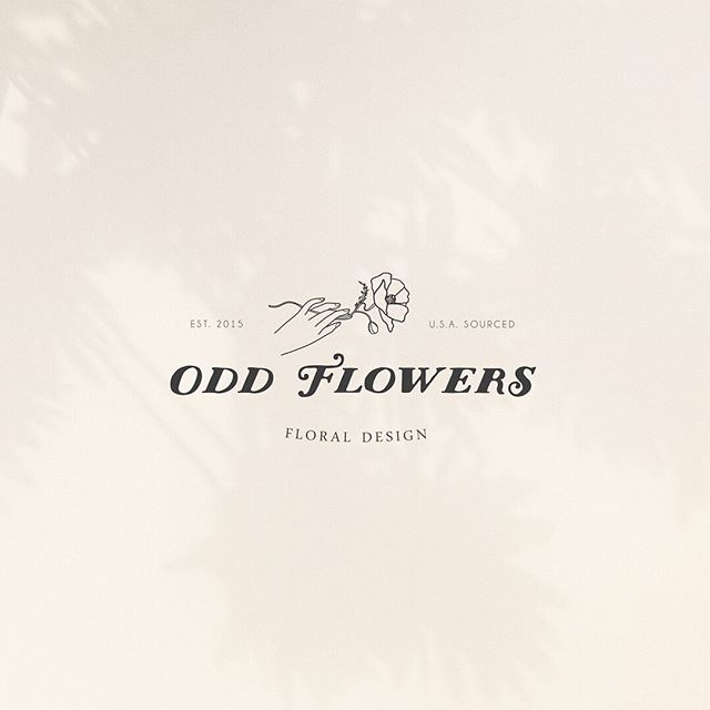 Logo design for @odd.flowers - one of my first (and still favorite) branding projects 💛  Check her out for all of your floral design needs! 💐 . . . . #designingwomen #thatsdarling #brandstylist #visualdiary #freelancelife #seattlecreatives #womeninbusiness #shopsmall #fempreneur #abmlifeiscolorful #femalefounded #flowergirl #businesswomen #floralbrand #flowerbrand
