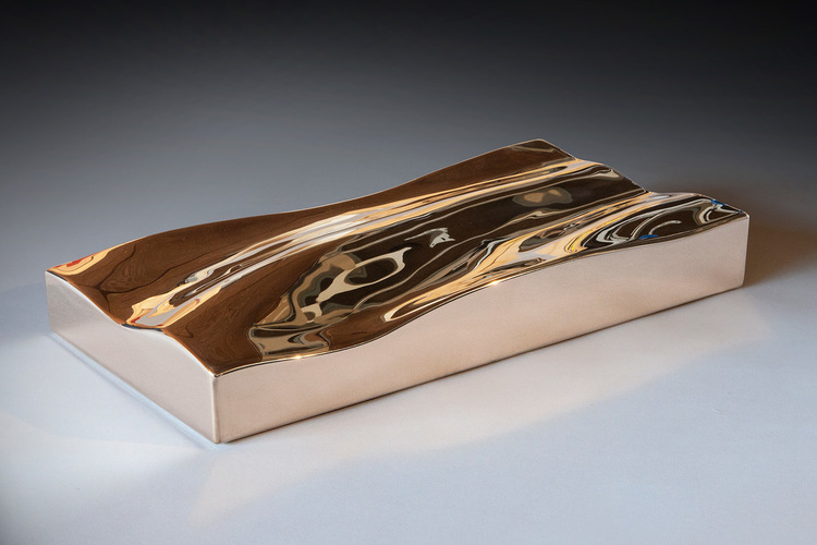 Bronze Wave I  Fabricated Silicon Bronze  2.5 x 18 x 9.5 inches | 6 x 46 x 24 cm 2013