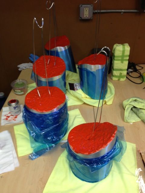 Segments masked for anodizing