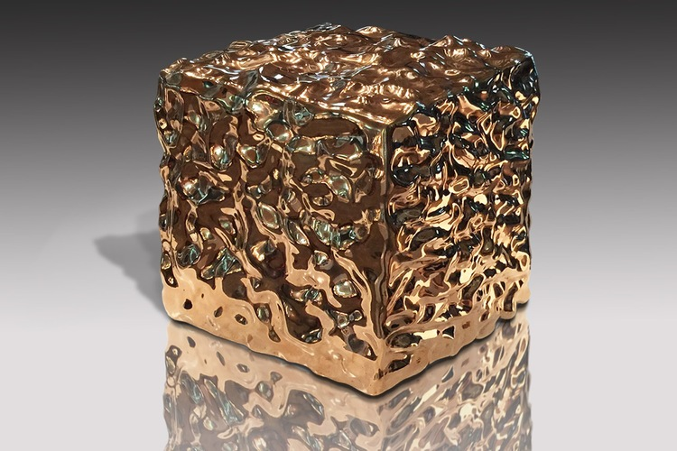 Bump Block  Mirror Polished Bronze 12 x 12 x 12 inches   30.5 x 30.5 x 30.5 cm Edition of 3 plus 2 AP 2015