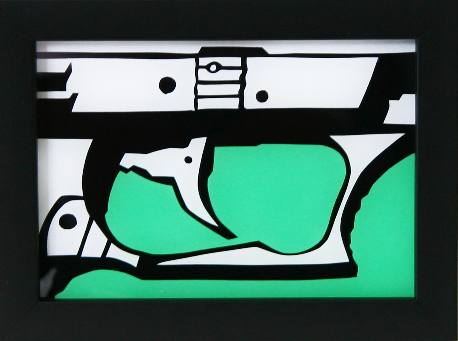 """painting on Plexiglas  5"""" x 7""""  sold."""